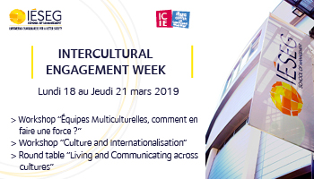 "IÉSEG organizes its first ""Intercultural Engagement Week"" from March 18-21, 2019"