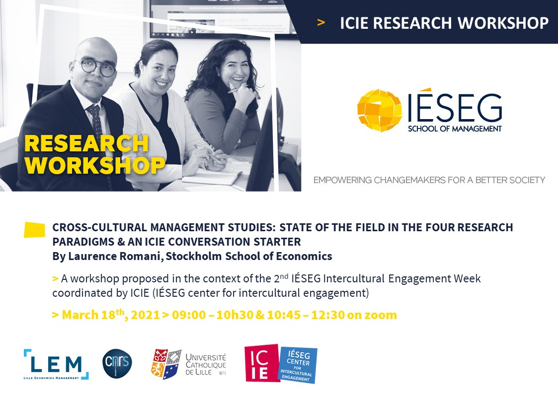 ICIE Research Workshop – with Laurence Romani, Stockholm School of Economics